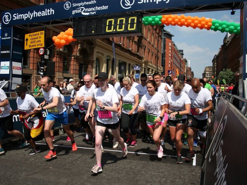 Thanks to our Great Manchester Runners