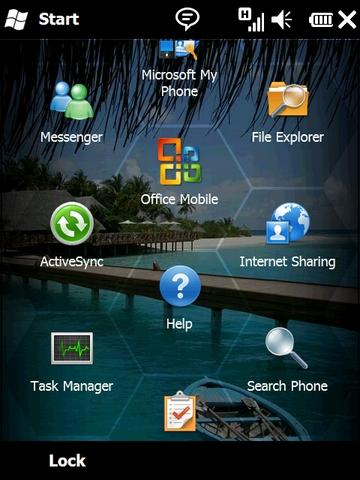 Windows Mobile 6.5 Menu