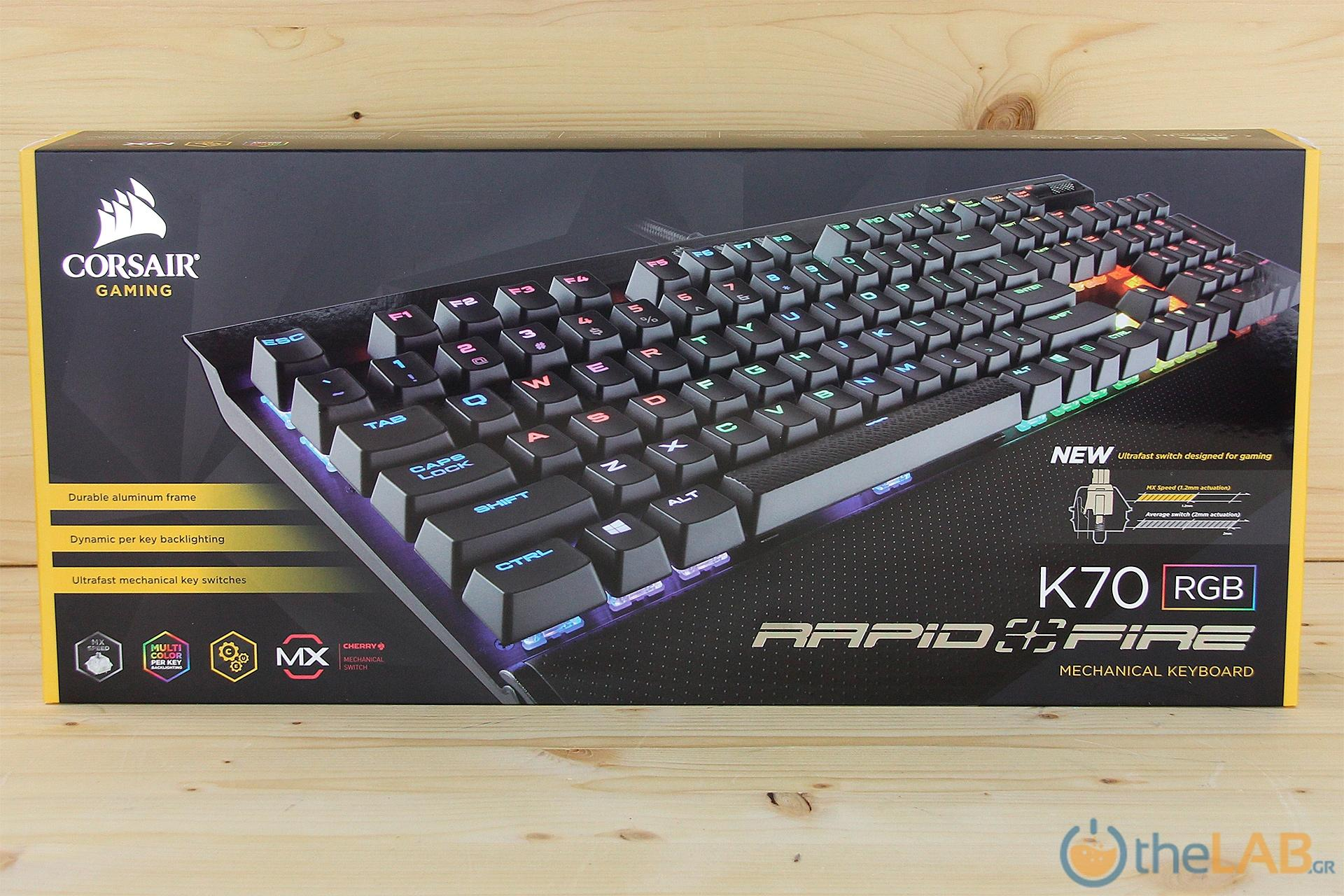 Corsair K70 RGB Rapidfire Mechanical...