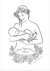 Image of Mindful Caesarean Birth Colouring PDF Download