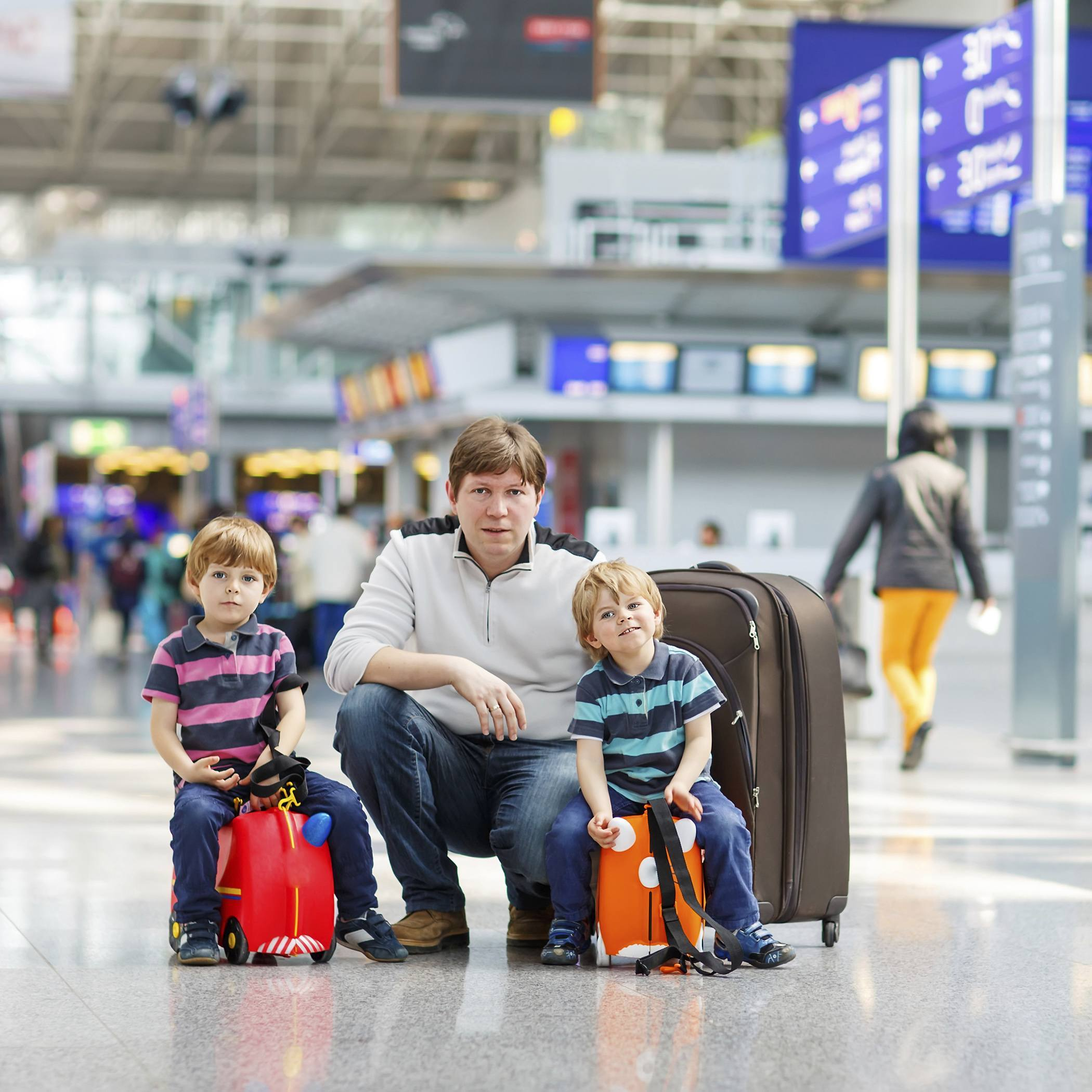 Preparing for a family - getting to airport