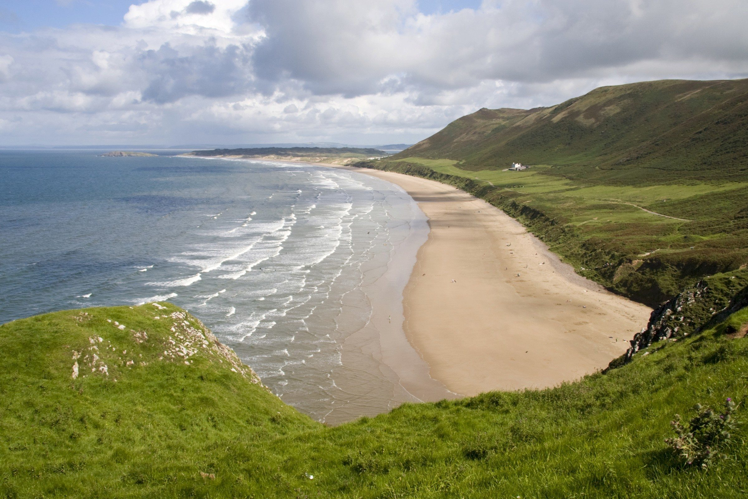 Family Beach Holidays UK - Rhossili Bay Wales