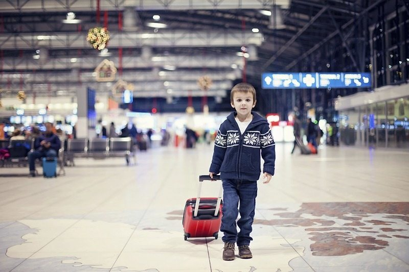 Luggage for a family holiday - carry on for kids