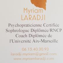 Myriam Laradji , Sophrologie à Avignon, France