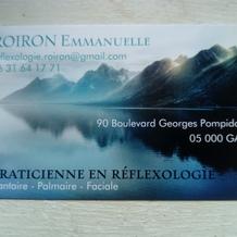 Emmanuelle Roiron , Réflexologie à Gap, France