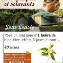 Katia Beuchel , Shiatsu à Bourg Saint Andeol, France