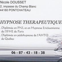 Nicole Dousset , Hypnose à Pontchâteau, France