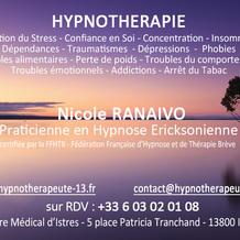 Nicole Ranaivo , Hypnose à Istres, France