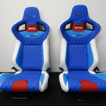 Sponsored bucket seat for Team Suzuki and Motul
