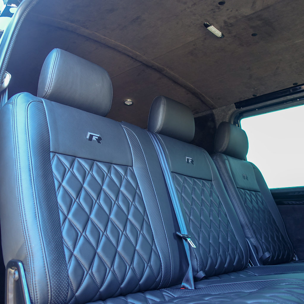 Volkswagen Transporter T6 seats in Grampian leather