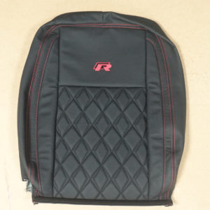 RP01 - Red and Black Stitched seat cover for a VW Transporter.