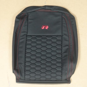 RP02 - Red and Black Stitched cover for a VW Transporter.