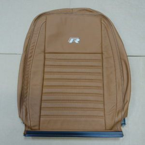 No.1 - Tan and grey stitched seat cover for a VW Transporter