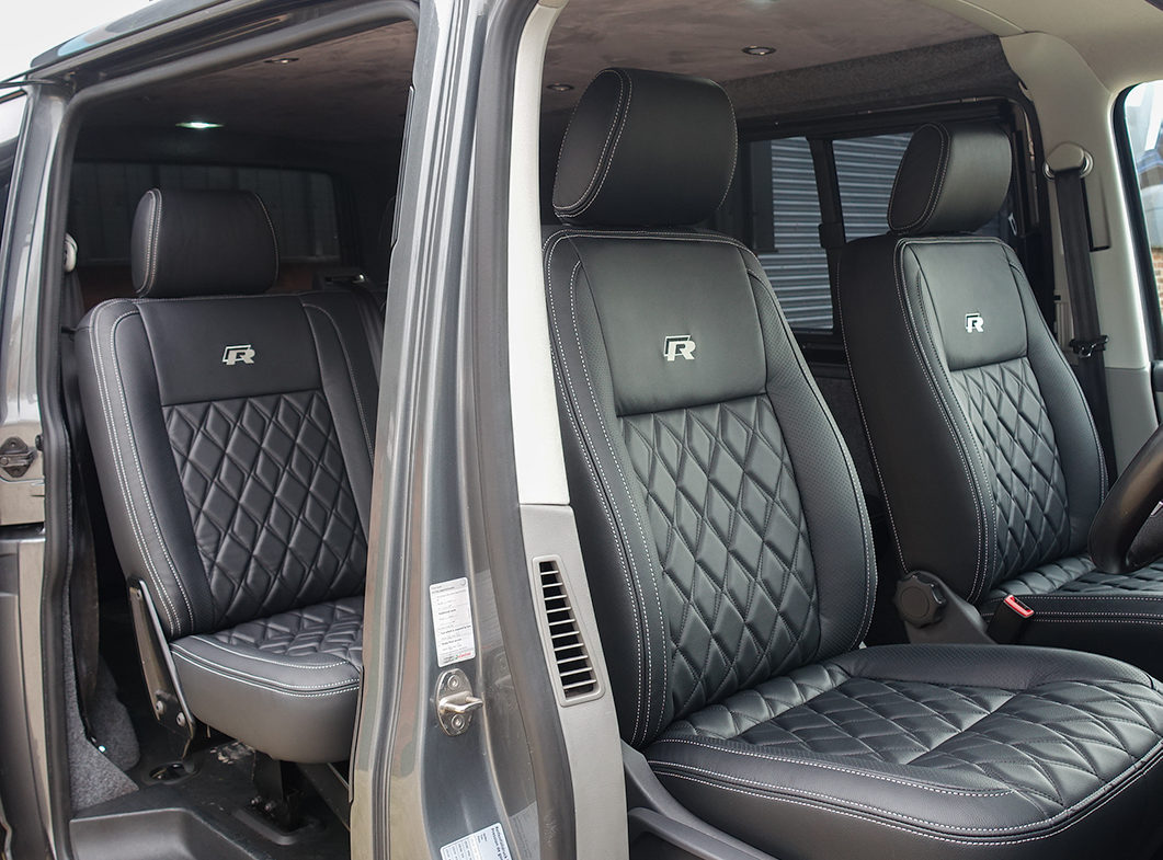 RP01 design leather seats in a VW transporter