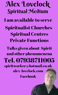 Alex Lovelock - Spiritualist Medium - Suffolk