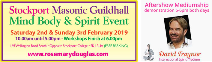 Stockport Mind Body Spirit – 2nd & 3rd Feb 19