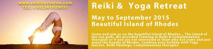 Reiki & Yoga Retreat May to September 2015