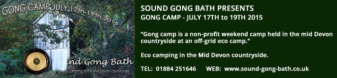 Gong Camp Bath Devon - 17th July 2015