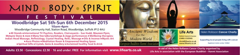 Woodbridge Mind Body Spirit Festival 5th December 2015