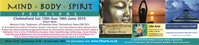 Chelmsford Mind Body Spirit Festival June 2015