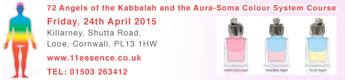 72 Angels of the Kabbalah and the Aura-Soma Colour System Course April 2015