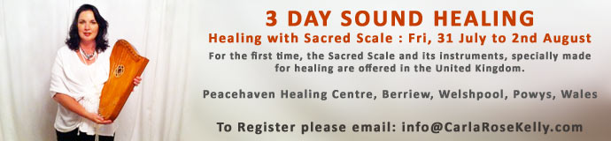 3 day Sound Healing:  Healing with Sacred Scale