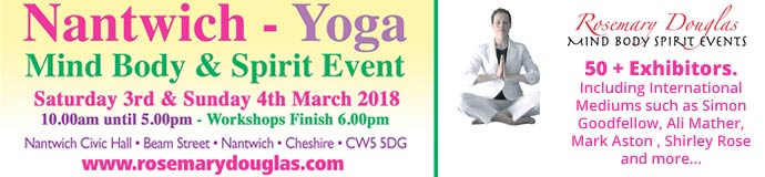 Nantwich Yoga Mind Body Spirit Event 3rd 4th March 2018