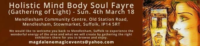 Holistic Mind Body Soul Fayre (Gathering of Light)