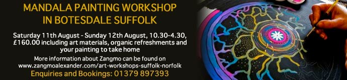 MANDALA PAINTING WORKSHOP IN BOTESDALE