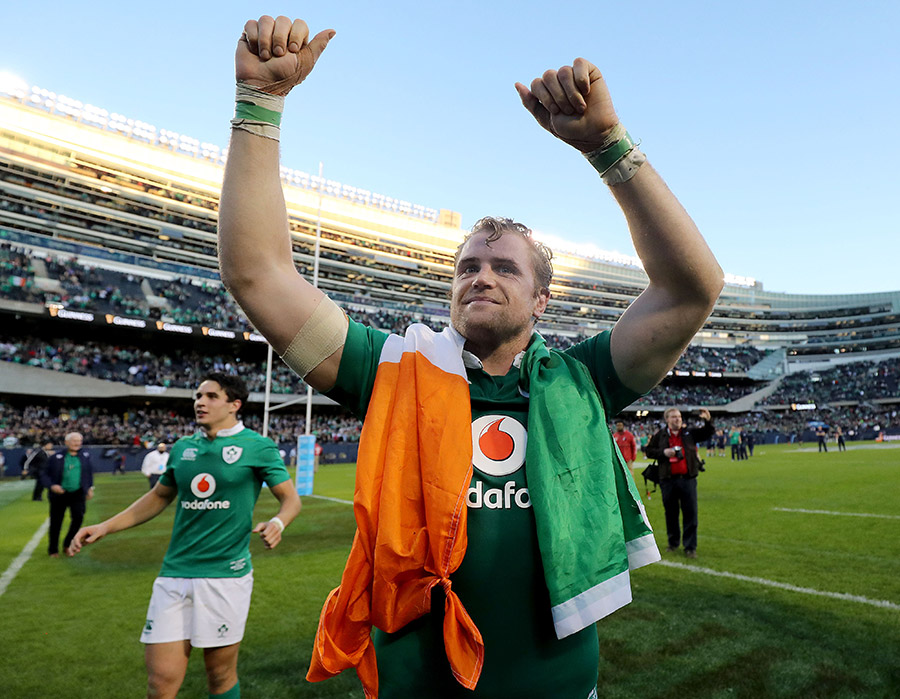 Jamie Heaslip celebrates in Chicago