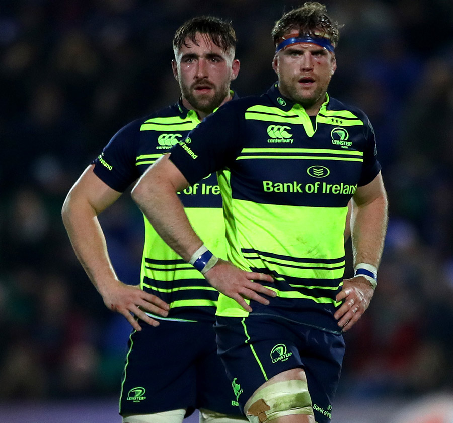 Jack Conan and Jamie Heaslip in action against Northampton Saints