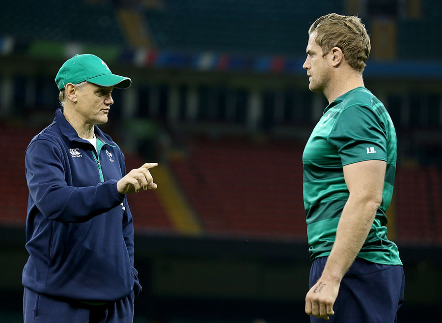 Joe Schmidt and Jamie Heaslip