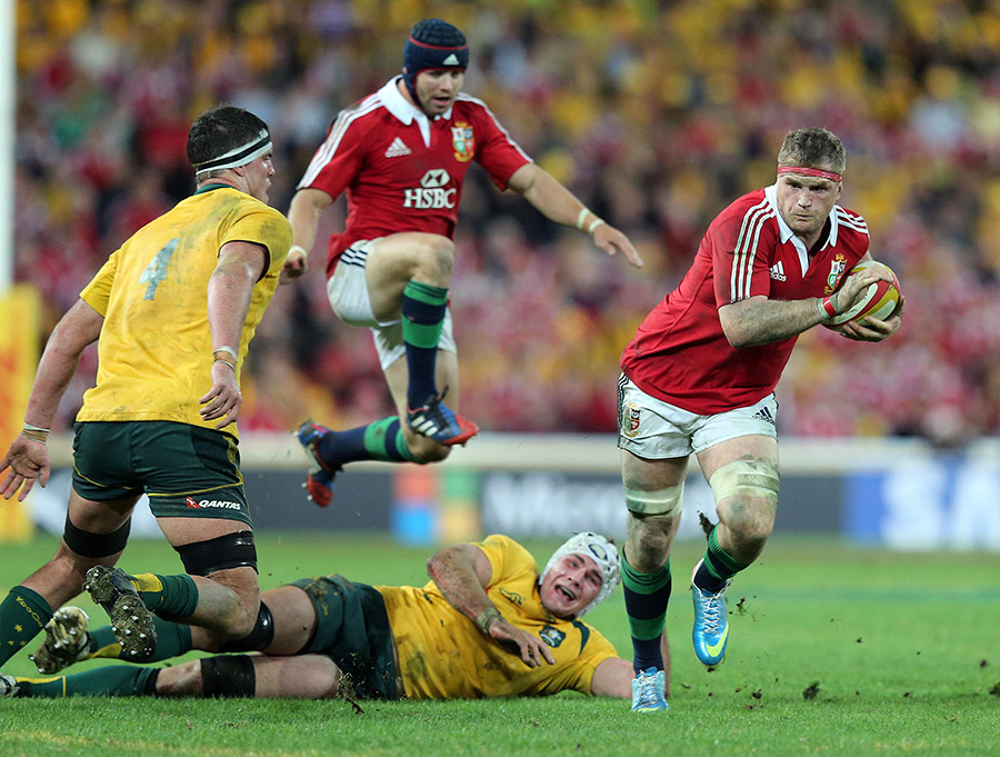 Jamie in action for the Lions