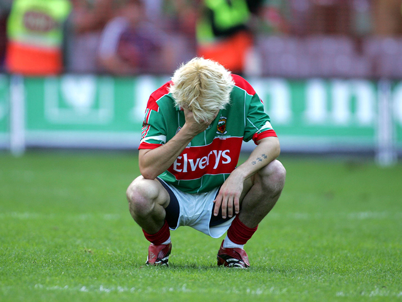 All Ireland Senior Football Final 17/9/2006 Mayo's Conor Mortimer at the final whistle Mandatory Credit A�INPHO/Lorraine O'Sullivan