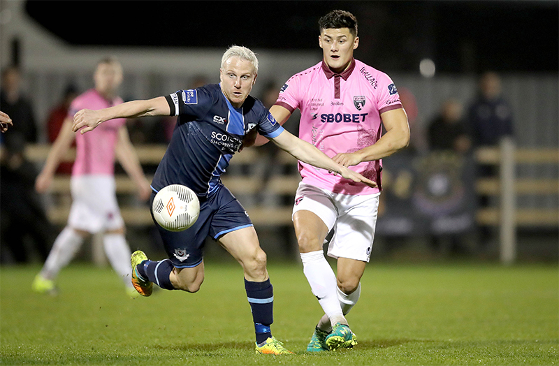 SSE Airtricity League Promotion/Relegation Play-Off First Leg, Ferrycarrig Park, Wexford 31/10/2016 Wexford Youths vs Drogheda United Wexford Youths' Lee Chin and SeanThorntan of Drogheda United Mandatory Credit ©INPHO/Ryan Byrne
