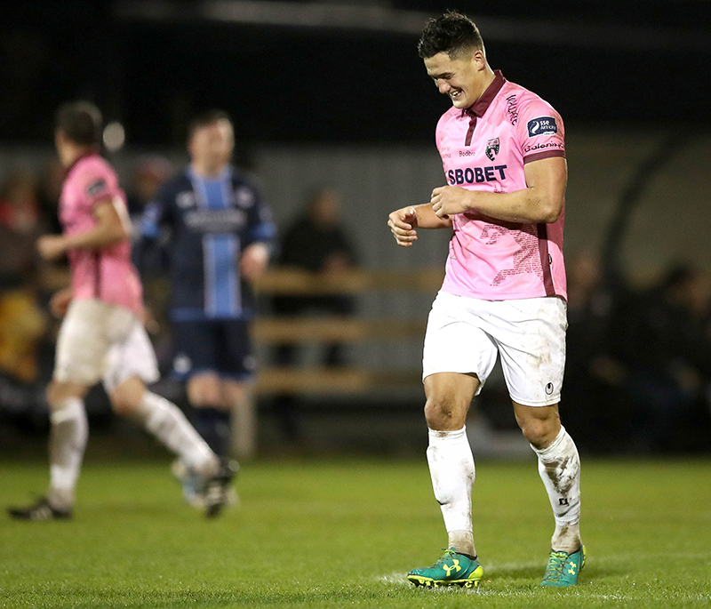 SSE Airtricity League Promotion/Relegation Play-Off First Leg, Ferrycarrig Park, Wexford 31/10/2016 Wexford Youths vs Drogheda United Wexford Youths' Lee Chin celebrates scoring the second goal of the game Mandatory Credit ©INPHO/Ryan Byrne