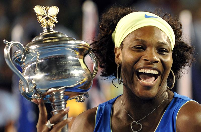 Jenny Murphy's hero. Australian Open Final 31/1/2009 Serena Williams celebrates victory Mandatory Credit ©INPHO/Getty Images