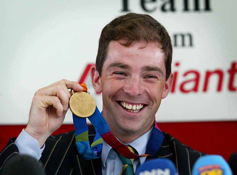 Cian O Connor | Olympic Gold Medalist Cian O'Connor Arrivial at Dublin Airport 30/8/2004 Cian O'Connor displays his Olympic Gold Medal at a press conference at Dublin Airport Mandatory Credit ©INPHO/Morgan Treacy