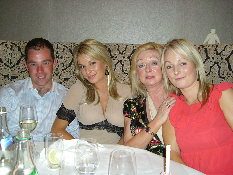 Cian O'Connor at his late mother Louise's birthday in 2008 with his sisters Pippa & Susanna