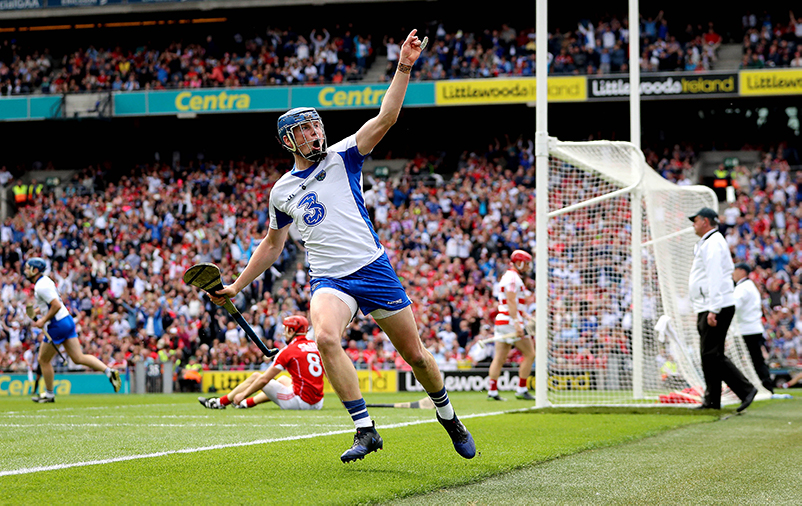 All-Ireland Senior Hurling Championship Semi-Final, Croke Park, Dublin 13/8/2017 Cork vs Waterford Waterford's Austin Gleeson celebrates scoring their third goal of the game Mandatory Credit ©INPHO/Ryan Byrne