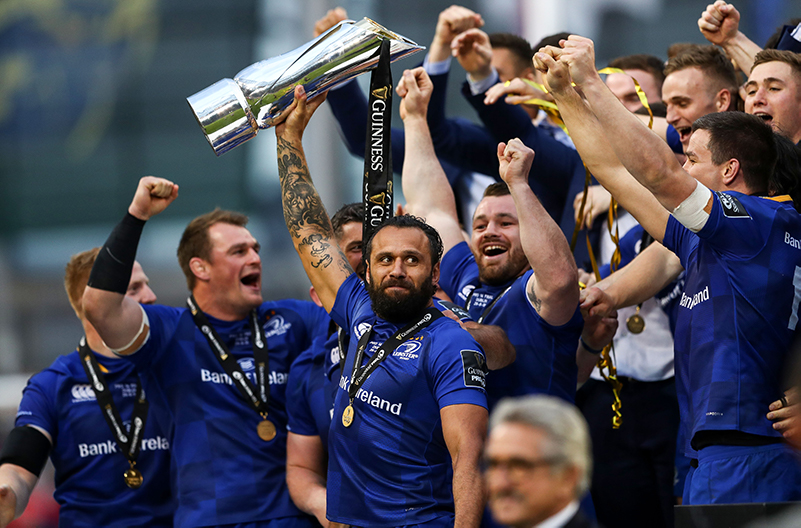 Guinness PRO14 Final, Aviva Stadium, Dublin 26/5/2018 Leinster vs Scarlets Leinster's Isa Nacewa lifts the trophy Mandatory Credit ©INPHO/James Crombie