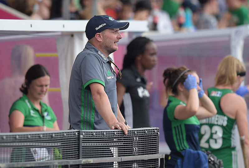 2018 Vitality Hockey Women's World Cup Pool B, Lee Valley Stadium, London, England 26/7/2018 India vs Ireland Ireland Coach Graham Shaw Mandatory Credit ©INPHO/Joe Toth