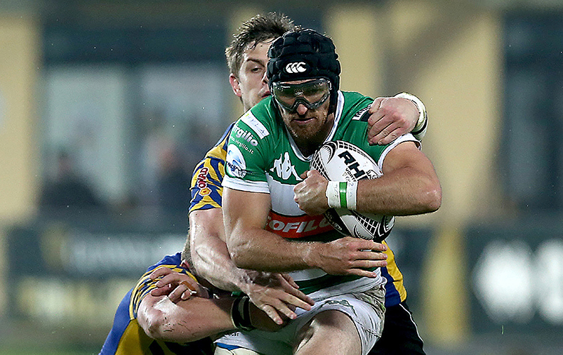 Guinness PRO12, Stadio Sergio Lanfranchi, Parma, Italy 6/5/2017 Benetton Treviso vs Zebre Treviso's Ian McKinley Mandatory Credit ©INPHO/Giuseppe Fama