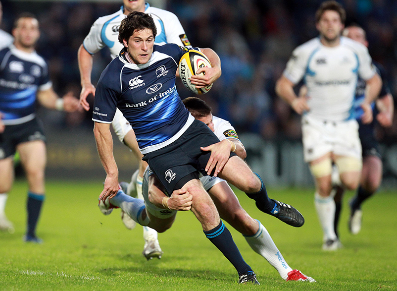 Magners League 6/5/2011 Leinster vs Glasgow Warriors Leinster's Ian McKinley tackled by DTH van der Merwe of Glasgow Warriors Mandatory Credit ©INPHO/Dan Sheridan