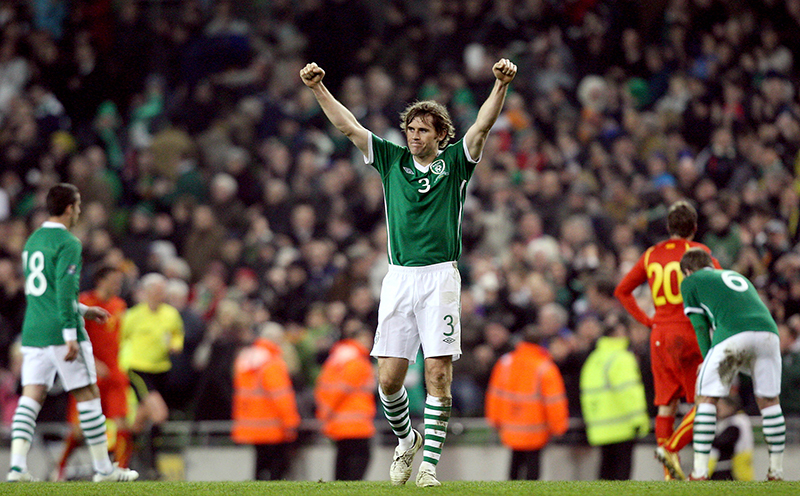 UEFA Euro 2012 Group B Qualifier, Aviva Stadium, Dublin 26/3/2011 Republic of Ireland vs Macedonia Ireland's Kevin Kilbane celebrates at the final whistle Mandatory Credit ©INPHO/Ryan Byrne
