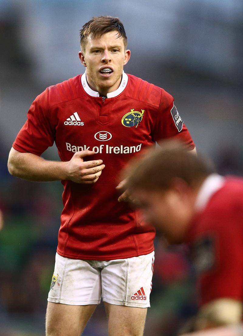 Guinness PRO12, Aviva Stadium, Dublin 2/4/2016 Leinster vs Munster Munster's Jonny Holland Mandatory Credit ©INPHO/James Crombie