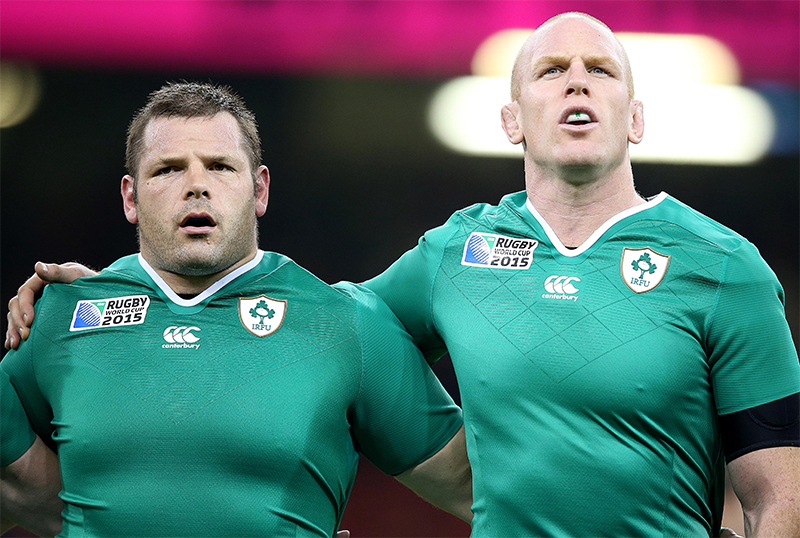 2015 Rugby World Cup Group D, Millennium Stadium, Cardiff, Wales 19/9/2015.Ireland vs Canada.Ireland's Mike Ross and Paul O'Connell .Mandatory Credit ©INPHO/Dan Sheridan.