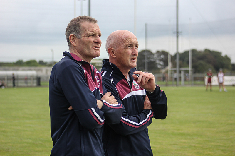 Aoife Ni Chaiside | Slaughtneil Camogie | Aoife's father Thomas (pictured left) ©Mark Doherty
