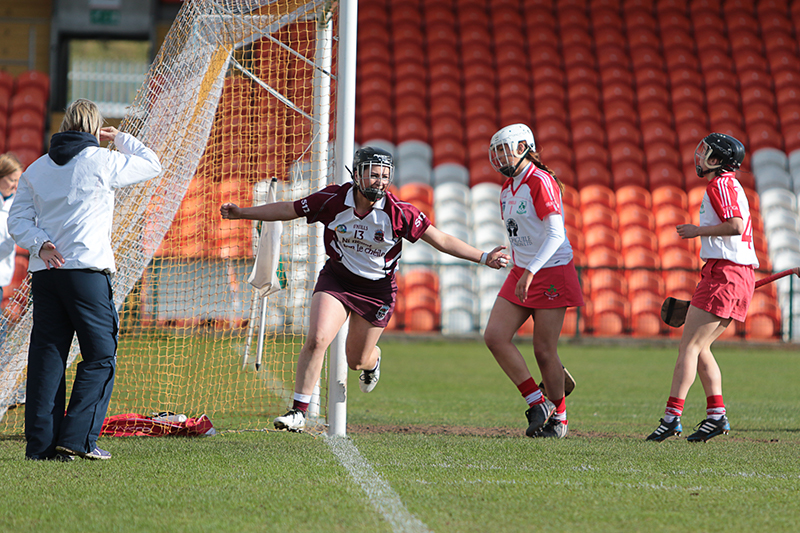 Aoife Ni Chaiside | Slaughtneil Camogie | Mary Kelly scores for Slaughtneil ©Mark Doherty