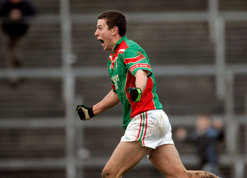 Connacht SFC Final 26/11/2006 Saint Brigids vs Corofin Karol Mannion of Brigids celebrates scoring the winning goal in the final moments of the game Mandatory Credit ©INPHO/Donall Farmer